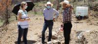 Visita Diputada y Alcalde electo zona de la Pinalosa; avanza reconstrucción de cabañas
