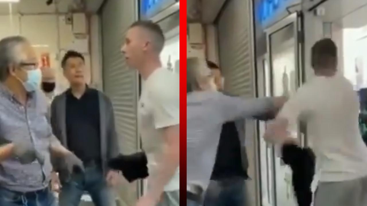 Joven insulta e intimida a un hombre asiático con el doble de su edad; termina noqueado