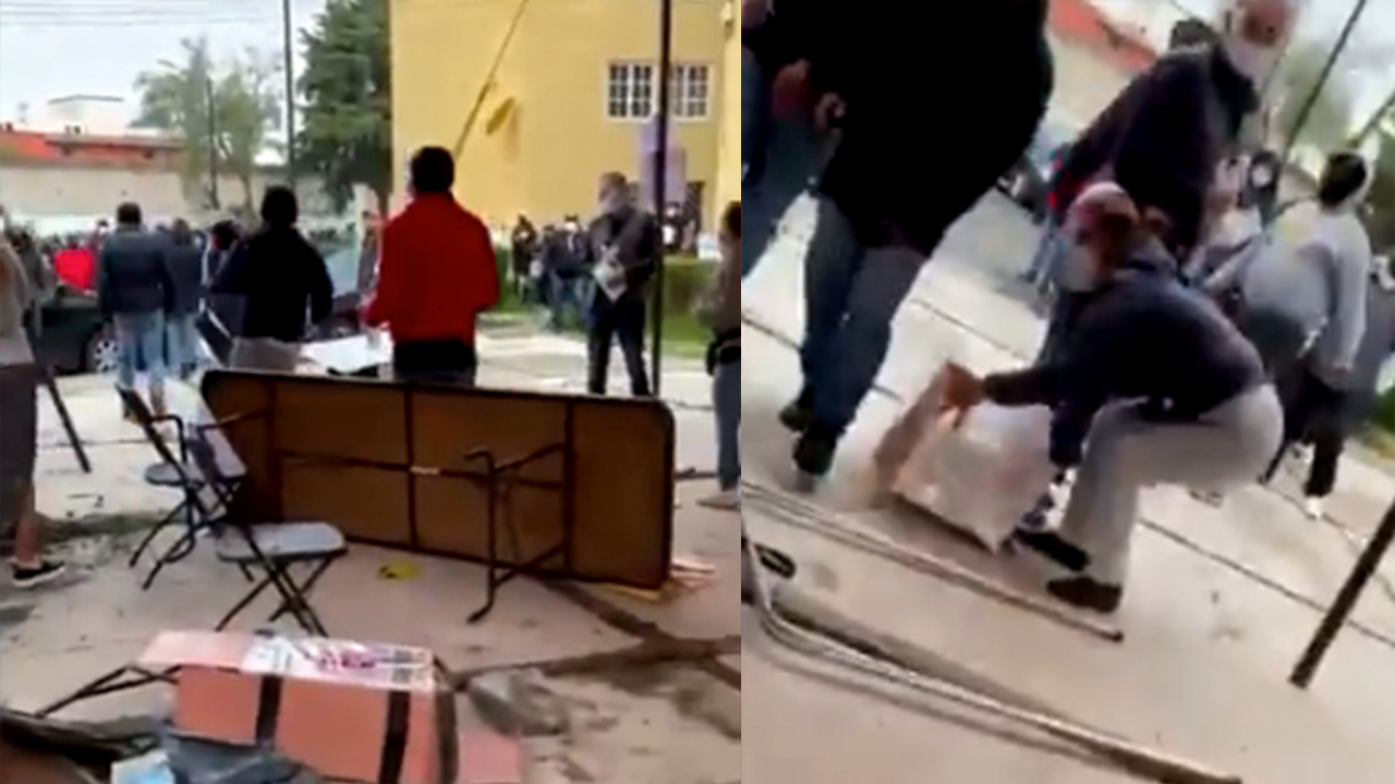 Golpean a funcionarios y se roban boletas en casilla; agresión fue grabada en video
