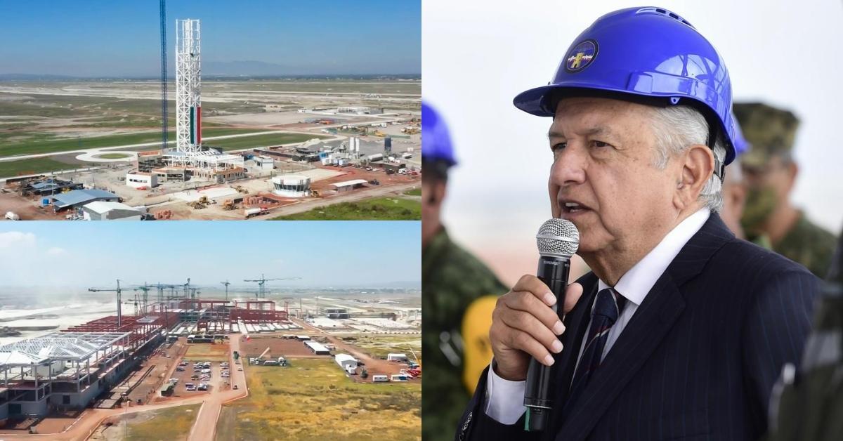 AMLO: Pilotos apoyan construcción del Aeropuerto Felipe Ángeles,