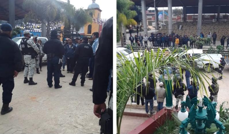 ¡Necesitamos hablar con AMLO!: Retienen a más de 40 elementos de GN, SSP, y FGE en Oaxaca