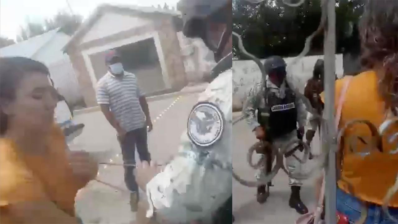 Entre gritos y forcejeos, Guardia Nacional intenta desolojar a una mujer viuda de su casa
