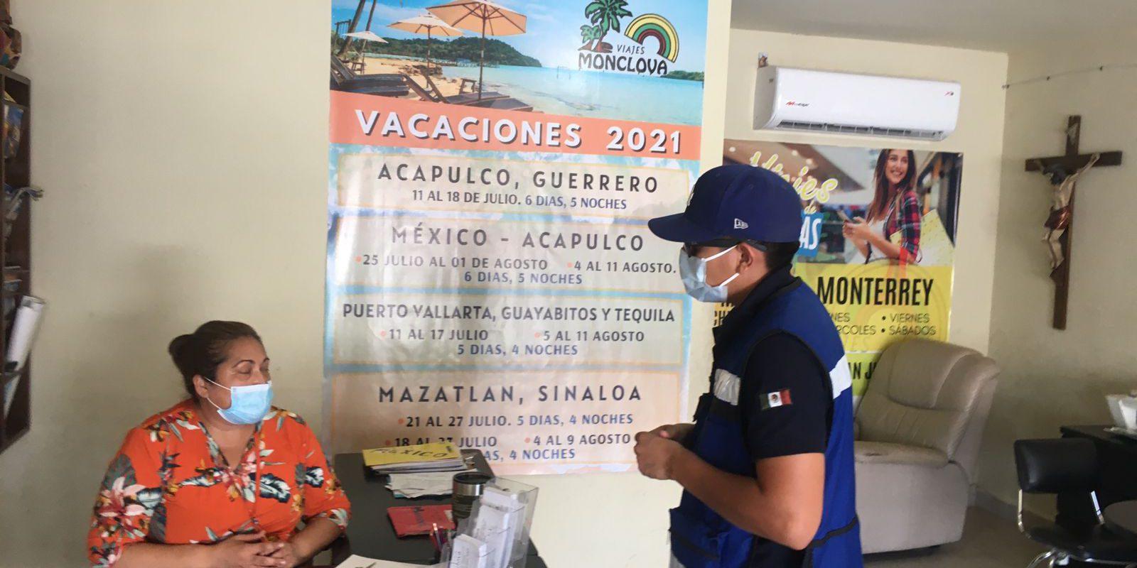 Agencias de viajes son supervisadas por Protección Civil de Monclova