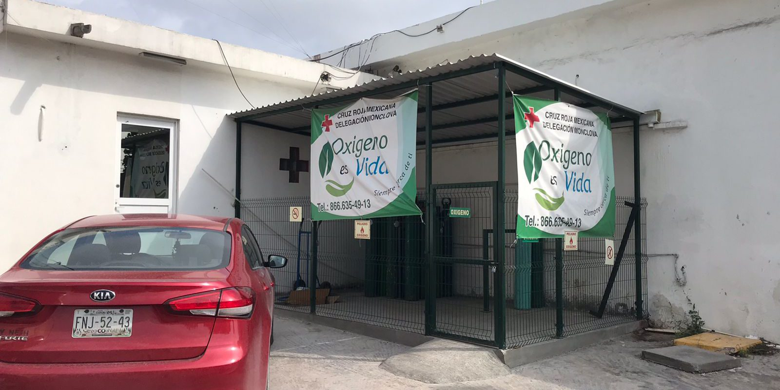 Baja requerimiento de tanques de oxígeno en Cruz Roja Monclova