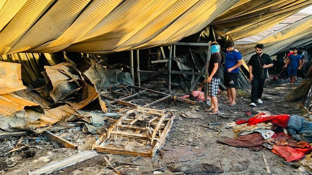 Mueren 92 personas en un incendio en hospital de Irak para enfermos de Covid-19