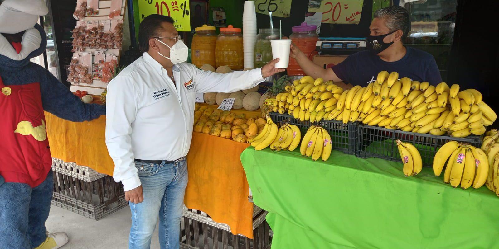 Falta apoyo del gobierno federal, el apoyo al comercio local es de suma importancia: Gerardo Oyervides