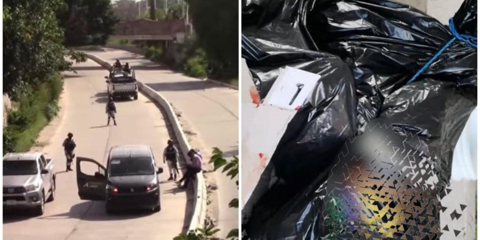 Encuentran cuerpos en bolsas de basura: Sicarios también dejaron una narcomanta
