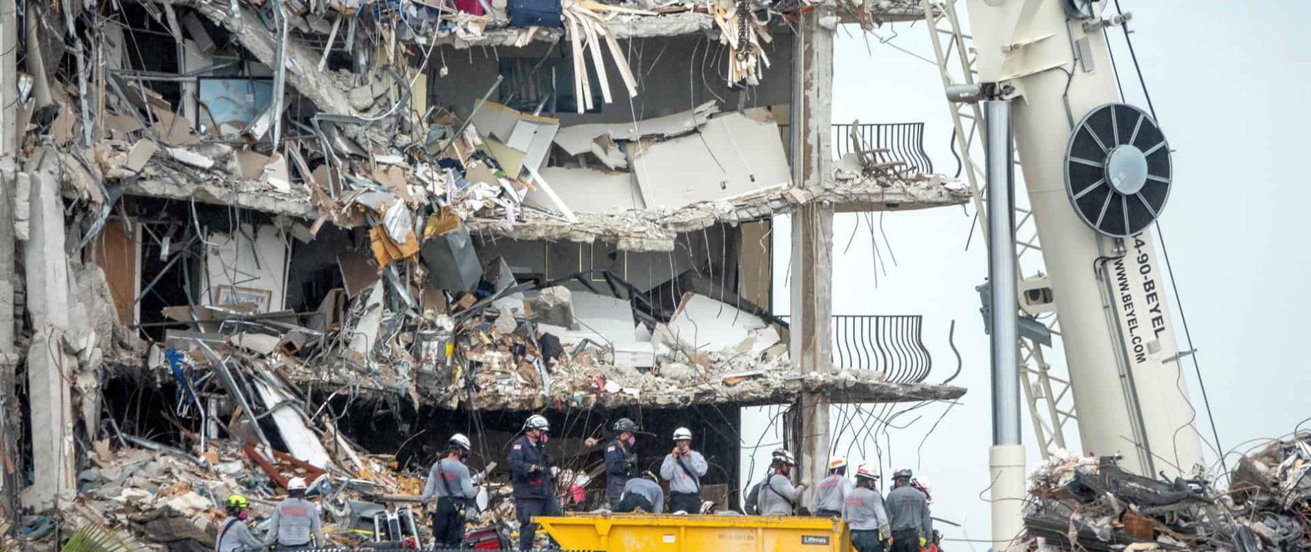 Aumentan a 95 los muertos por derrumbe de edificio en Miami