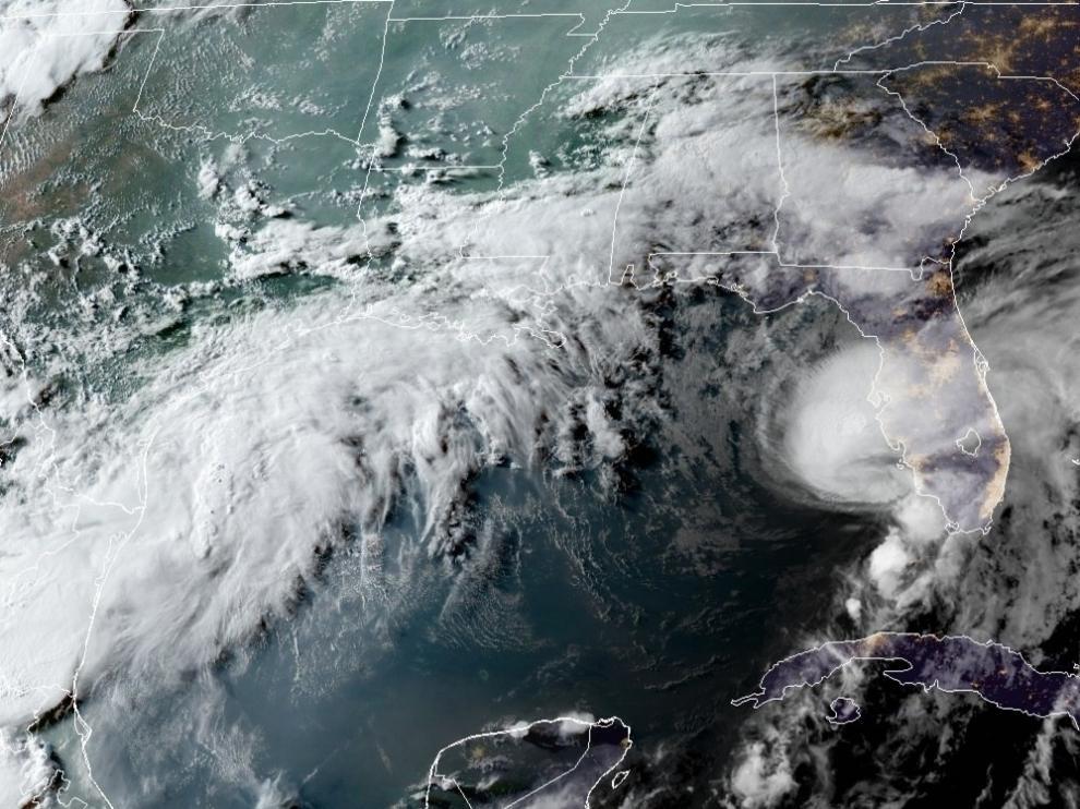 La tormenta Elsa tocó tierra en Florida