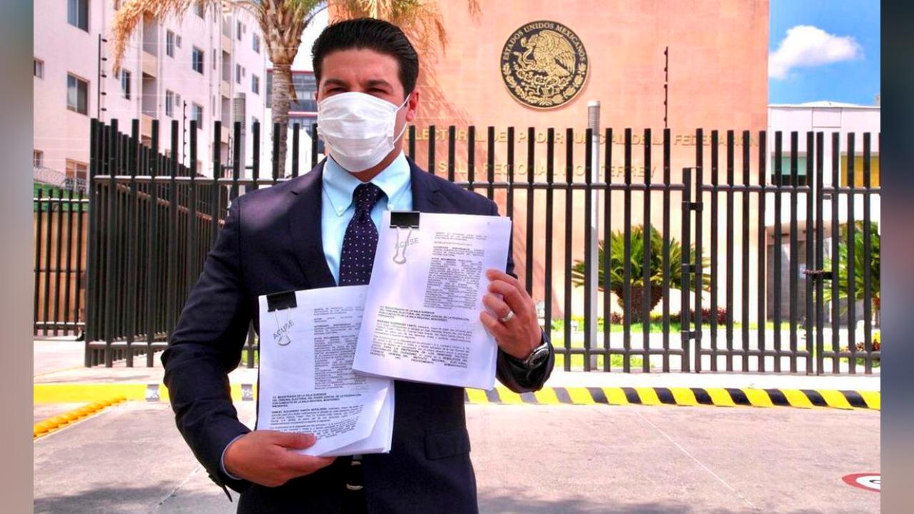 Samuel García denuncia al INE ante el TEPJF; vulneran derechos de Mariana