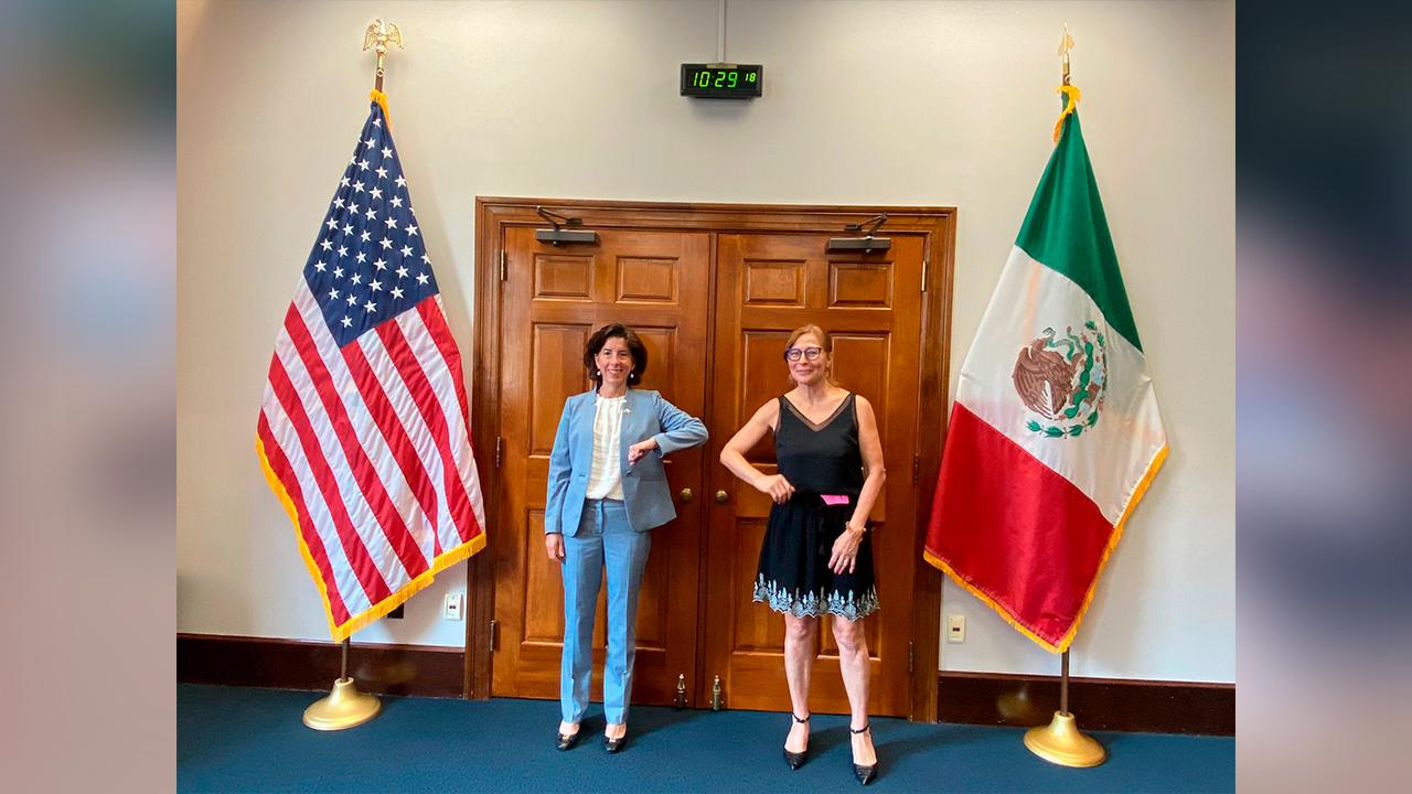 Tatiana Clouthier se reúne con la Secretaría de Comercio de EE.UU.; planteó relanzamiento de DEAN