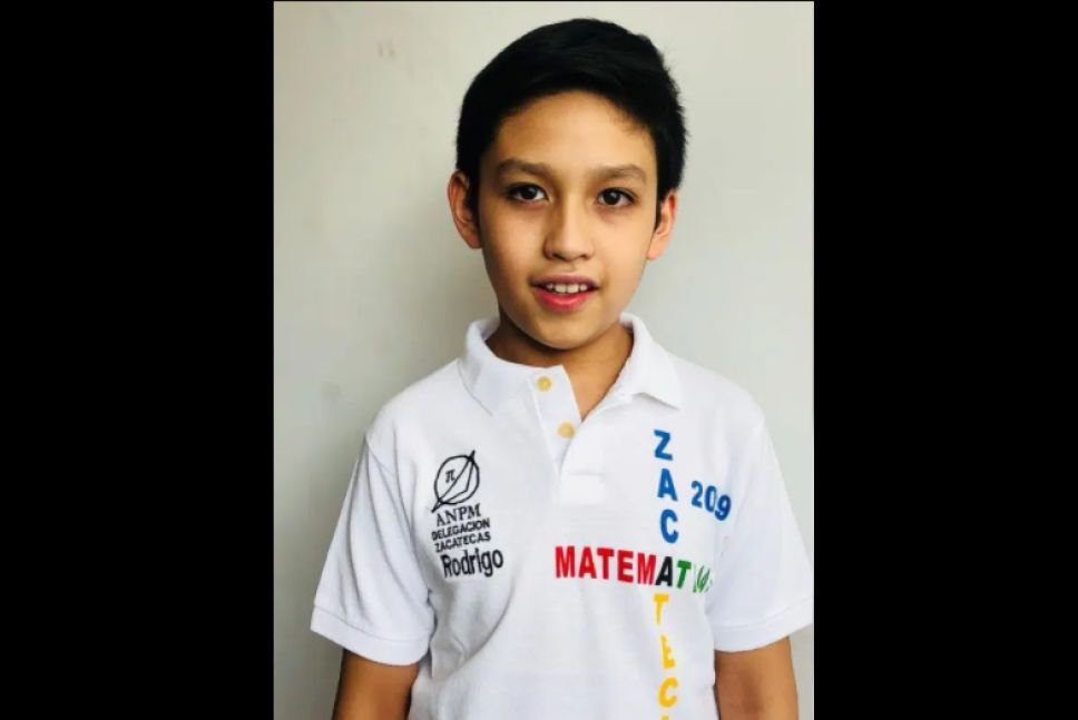 ¡Orgullo mexicano! Niño Rodrigo Saldívar gana Olimpiada Internacional de Matemáticas