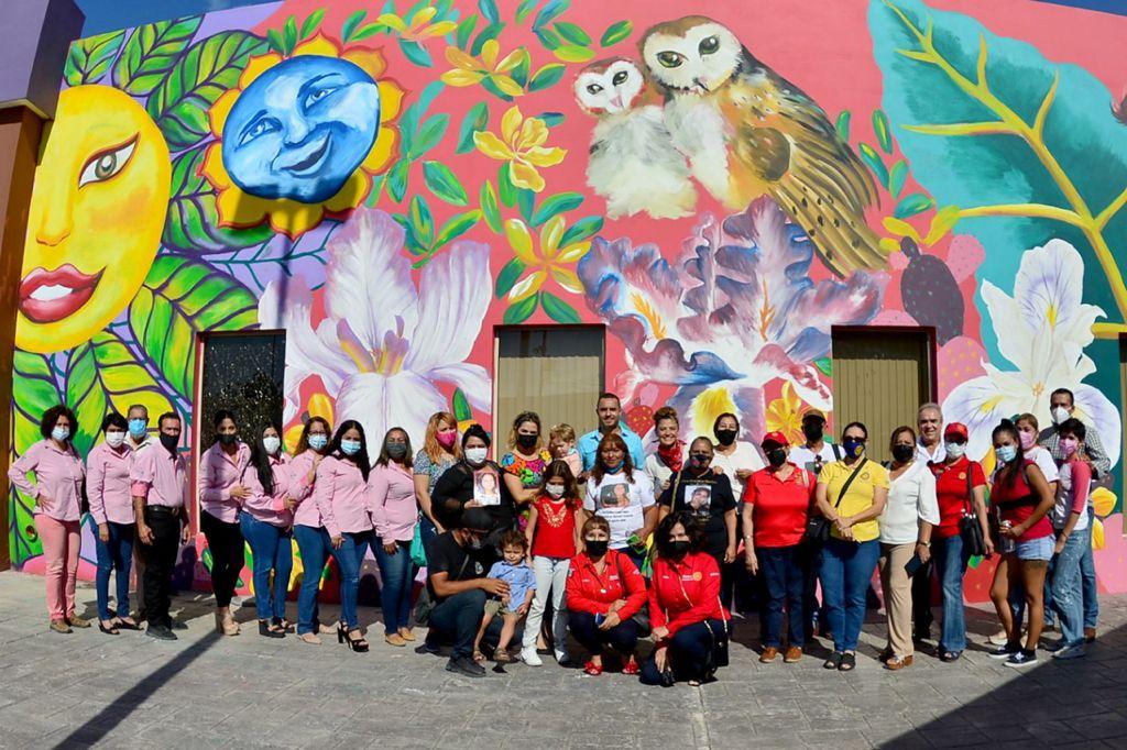 Inauguran mural en CJEM de torreón, por el día internacional de la desaparición forzada