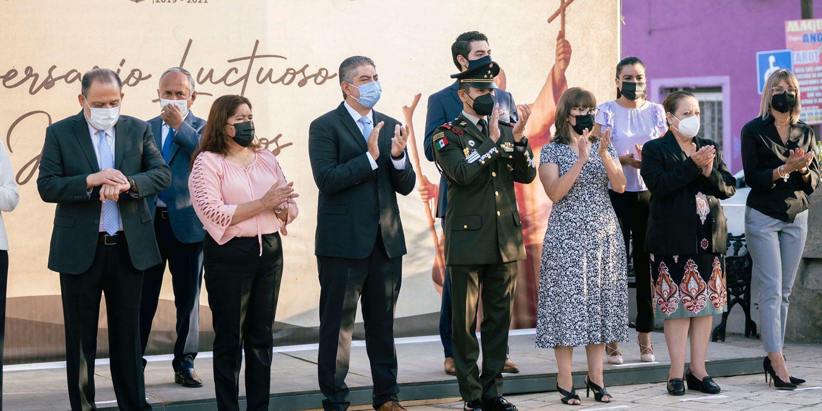 Autoridades conmemoran el 345 aniversario luctuoso de Fray Juan Larios