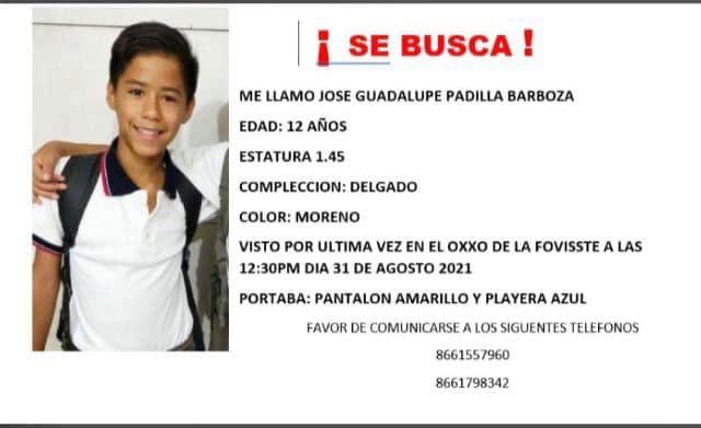 Localizan a menor desaparecido: José ya regresó a casa con sus padres
