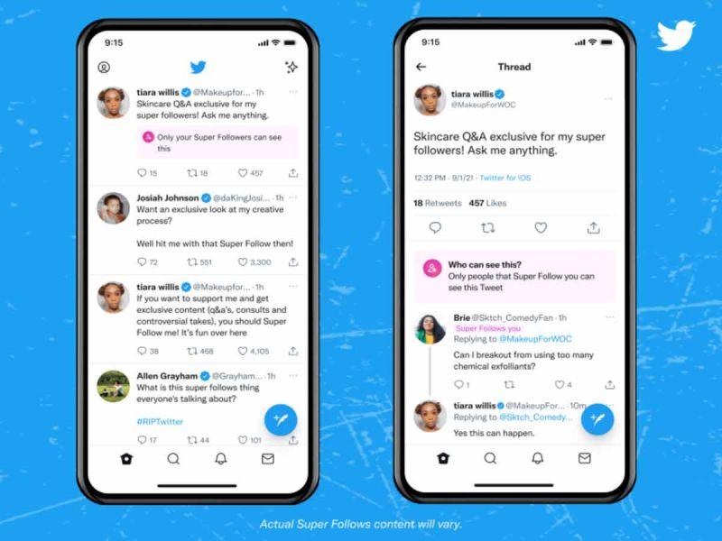 Twitter lanza los Super Follows, suscripciones de pago para contenido exclusivo