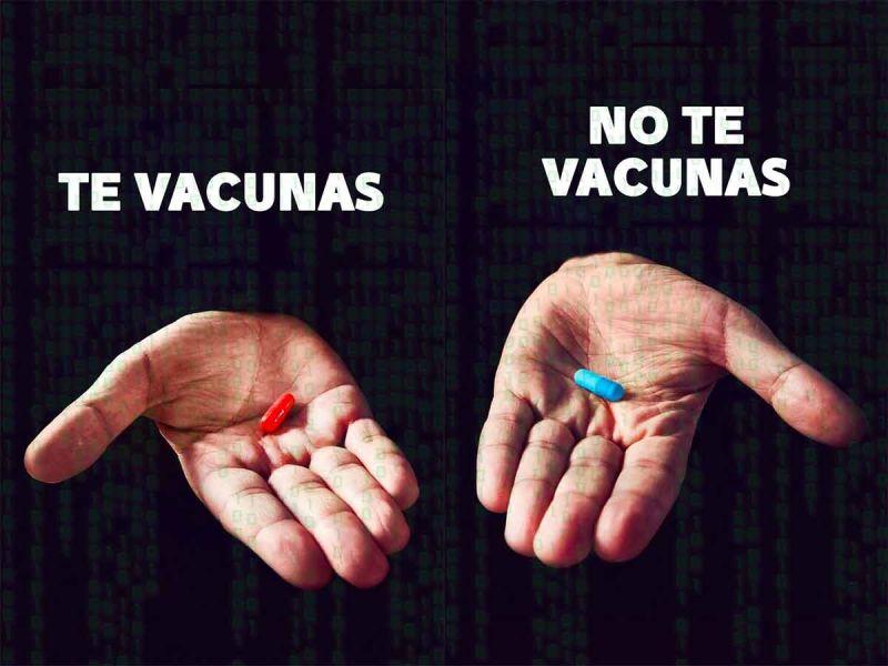 ¿Píldora roja o azul? 'El Bronco' hace campaña de vacunación contra covid-19 al estilo Matrix