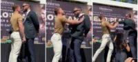 Canelo Álvarez y Caleb Plant protagonizaron enfrentamiento en conferencia de prensa