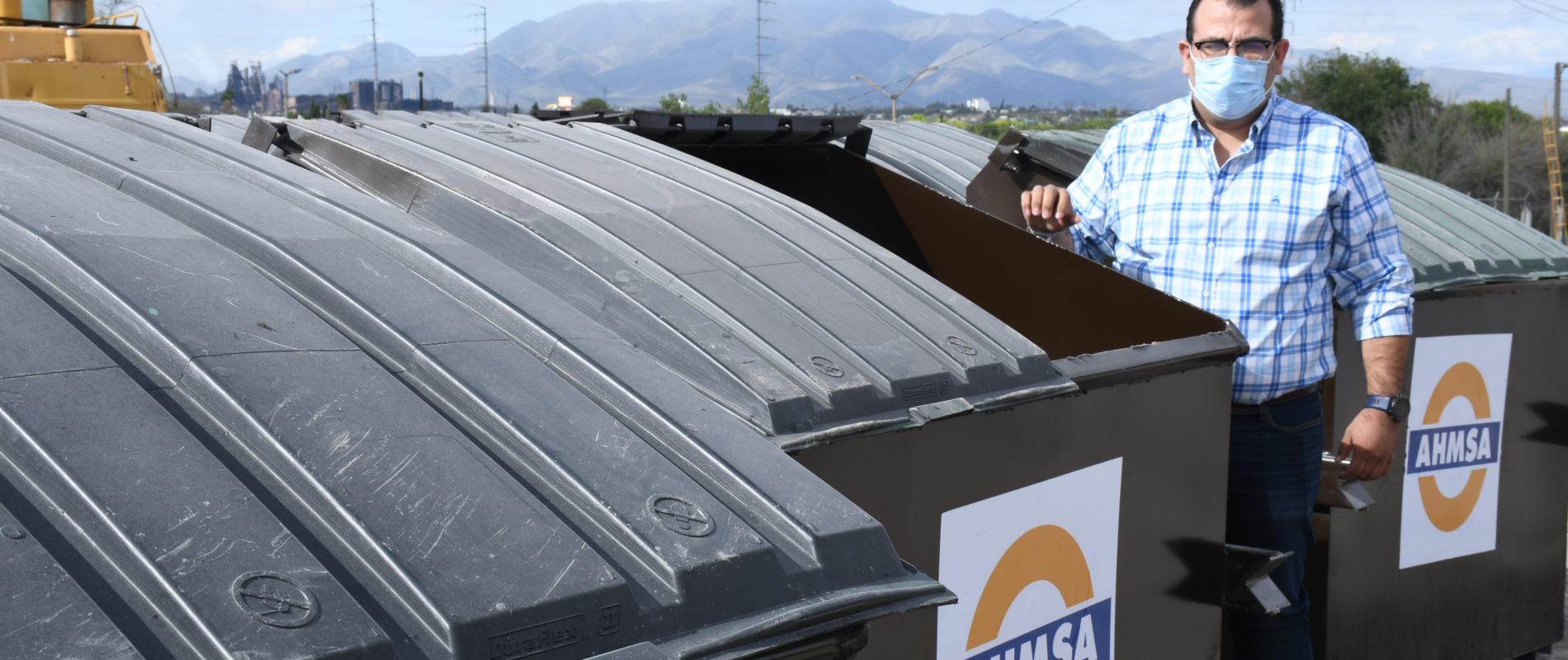 Recibe Ayuntamiento de Monclova los últimos 50 contenedores de la administración