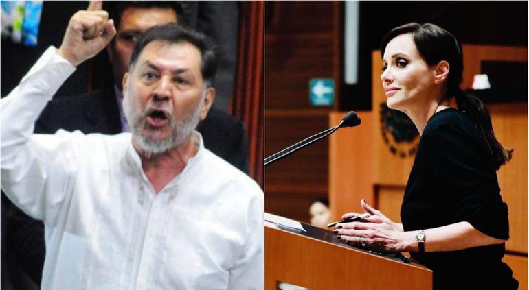 Fernández Noroña arremete contra Lilly Téllez: 'No pidas disculpas, retírate del Senado'