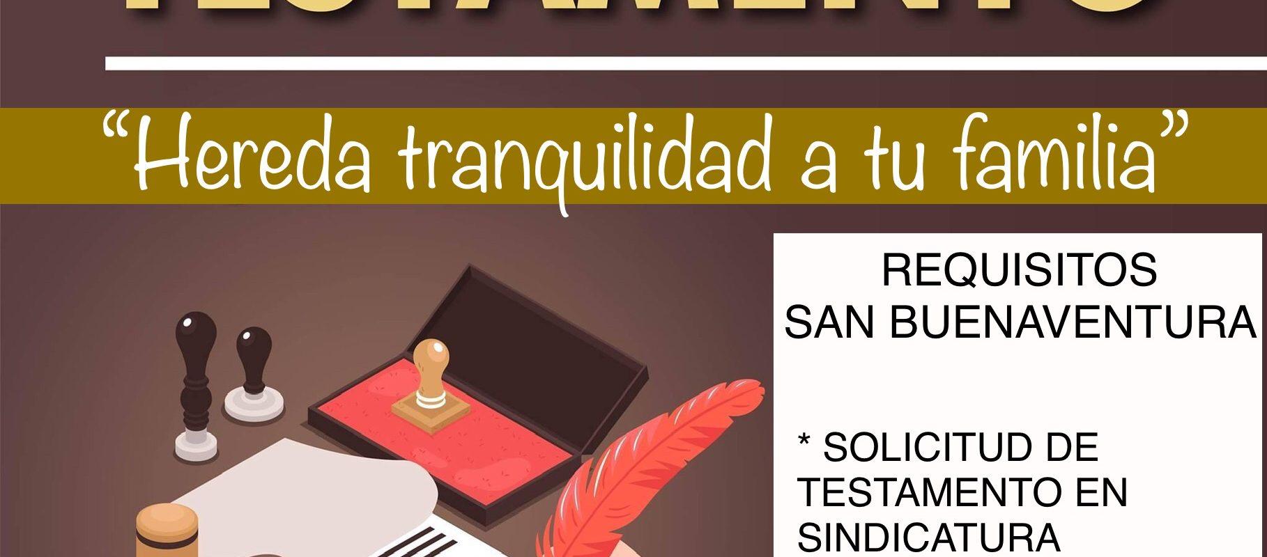 Exhorta el Ayuntamiento de San Buenaventura a tramitar testamento