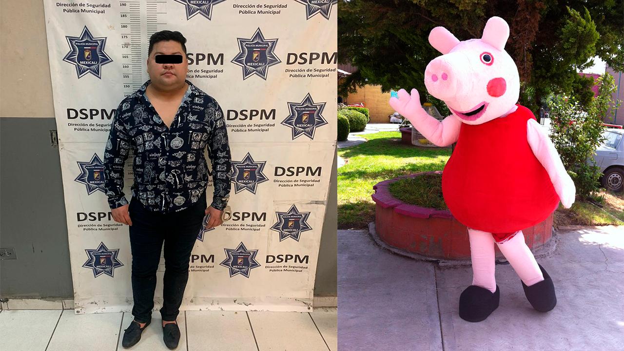 José Julián se abalanzó contra botarga de Peppa Pig y la noqueó