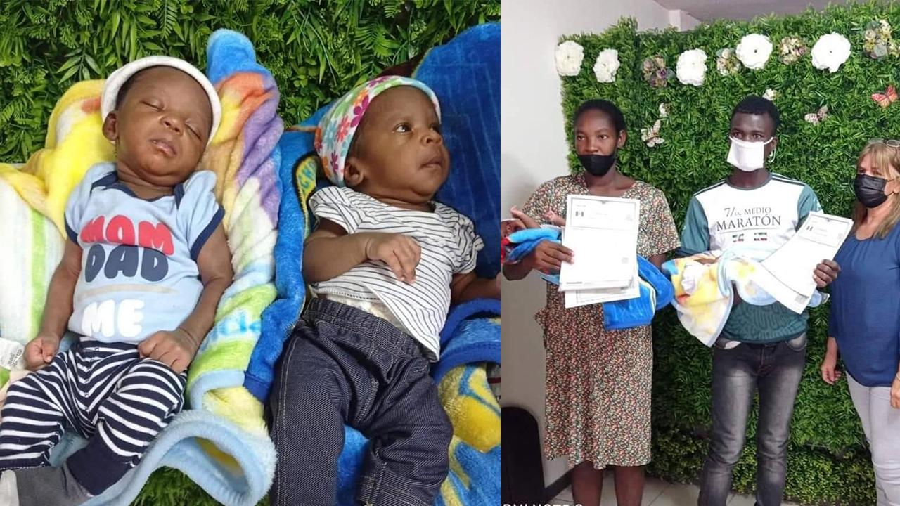 Kimarah y Kerverson se convierten en los primeros bebés mexicanos hijos de padres haitianos