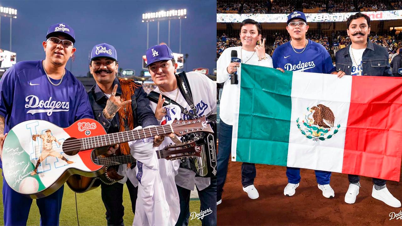 Los Dos Carnales llegaron al estadio de los Dodgers en Los Ángeles: Interpretaron 'El Envidioso'