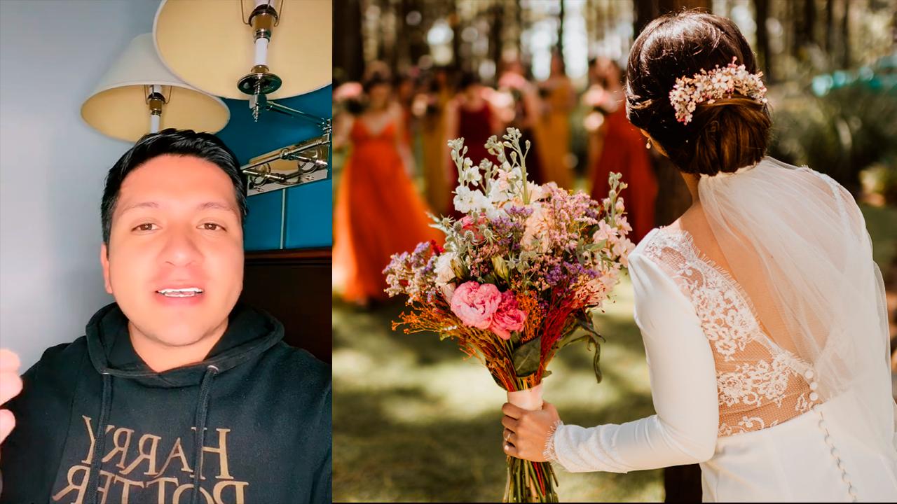Mujer dividió a sus amigos por su color de piel el día de su boda; organizador la expuso en TikTok