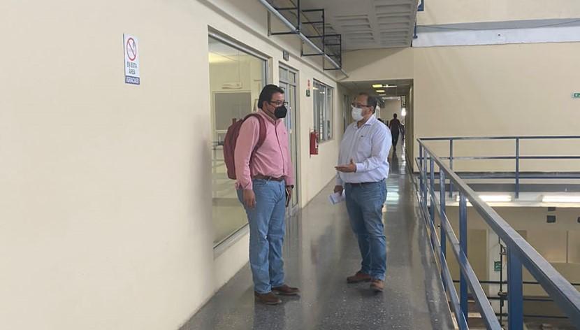 El Alcalde electo de Frontera Roberto Piña Amaya, visitó el Instituto de Ingeniería Civil de la Universidad Autónoma de Nuevo León