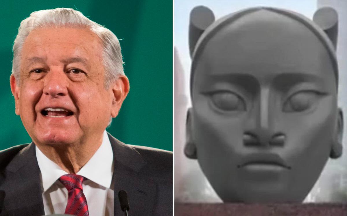 'Sí, estoy de acuerdo': AMLO aprueba la escultura de 'Tlali' y la reubicación Cristóbal Colón