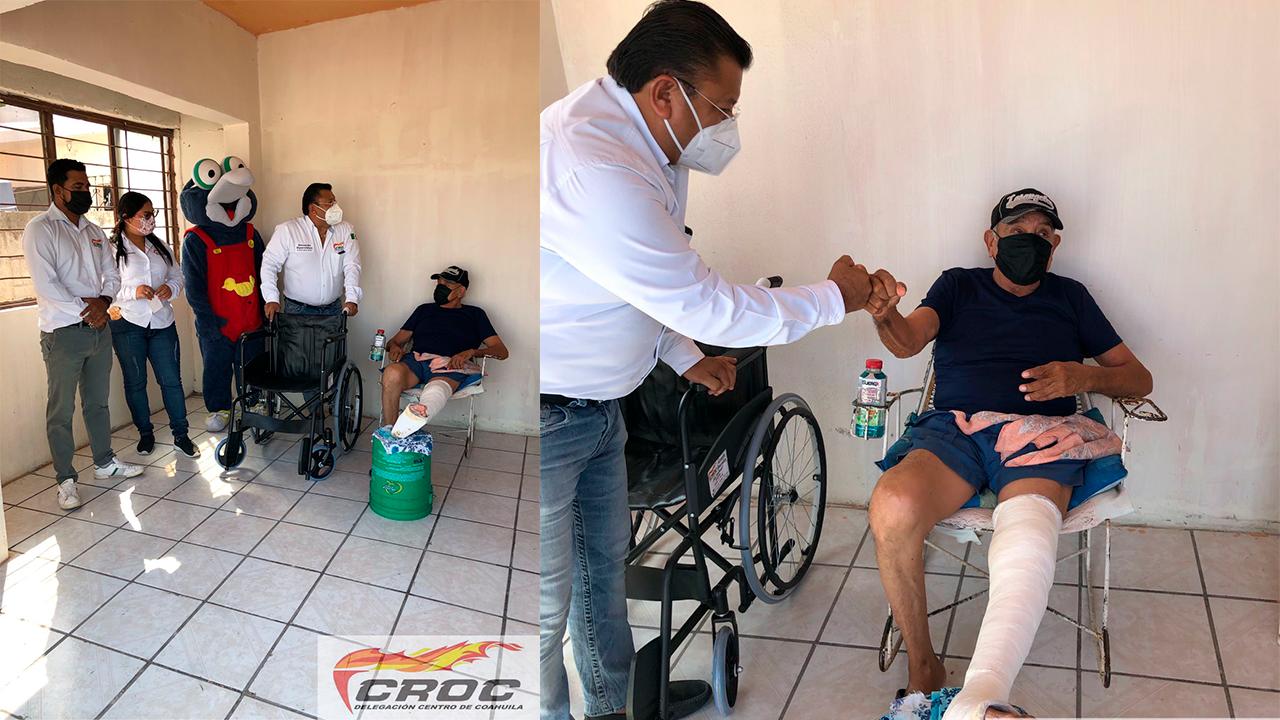CROC entrega ayuda a vecino de Frontera: Don Francisco recibió una silla de ruedas