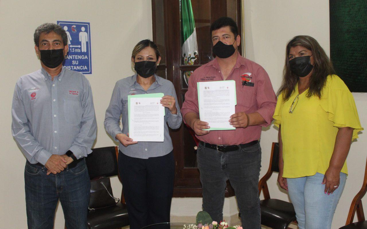 Ayuntamiento de Castaños lleva acabo la renovación de convenio de colaboración con el Cecati