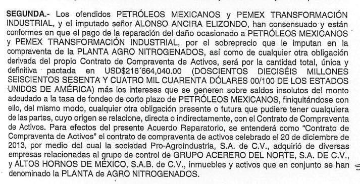 Será Pemex dueño de AHMSA si Alonso Ancira no cumple con el pago reparatorio: FGR
