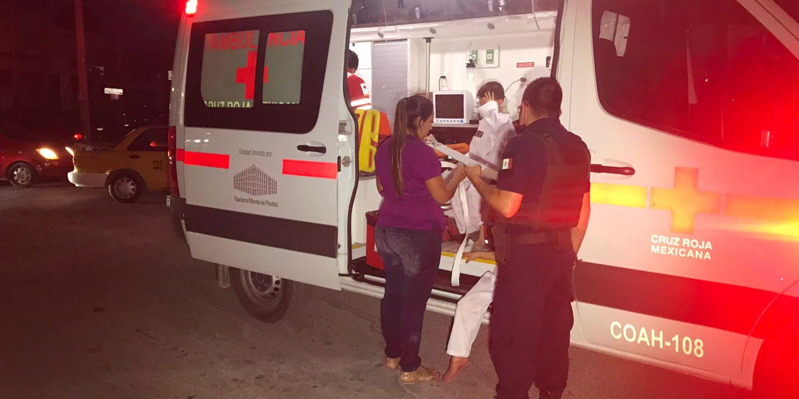 Lesionados tres menores en fuerte choque en Av. Monterrey y Bulevar Harold Pape de Monclova
