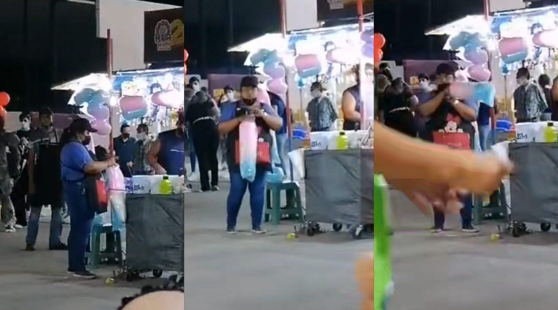 Captan a vendedora de algodones de azúcar rompiendo protocolos antiCovid en Torreón