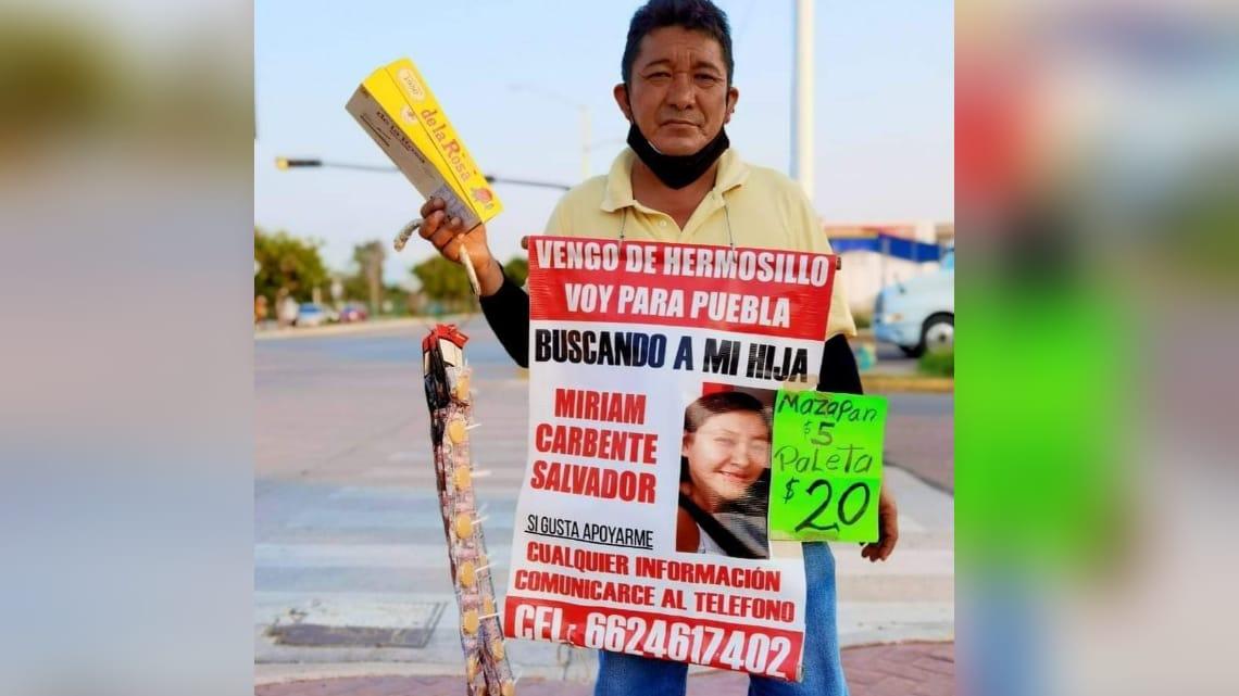 Don Humberto tiene la esperanza de encontrar con vida a su niña: Miriam desapareció en 2018