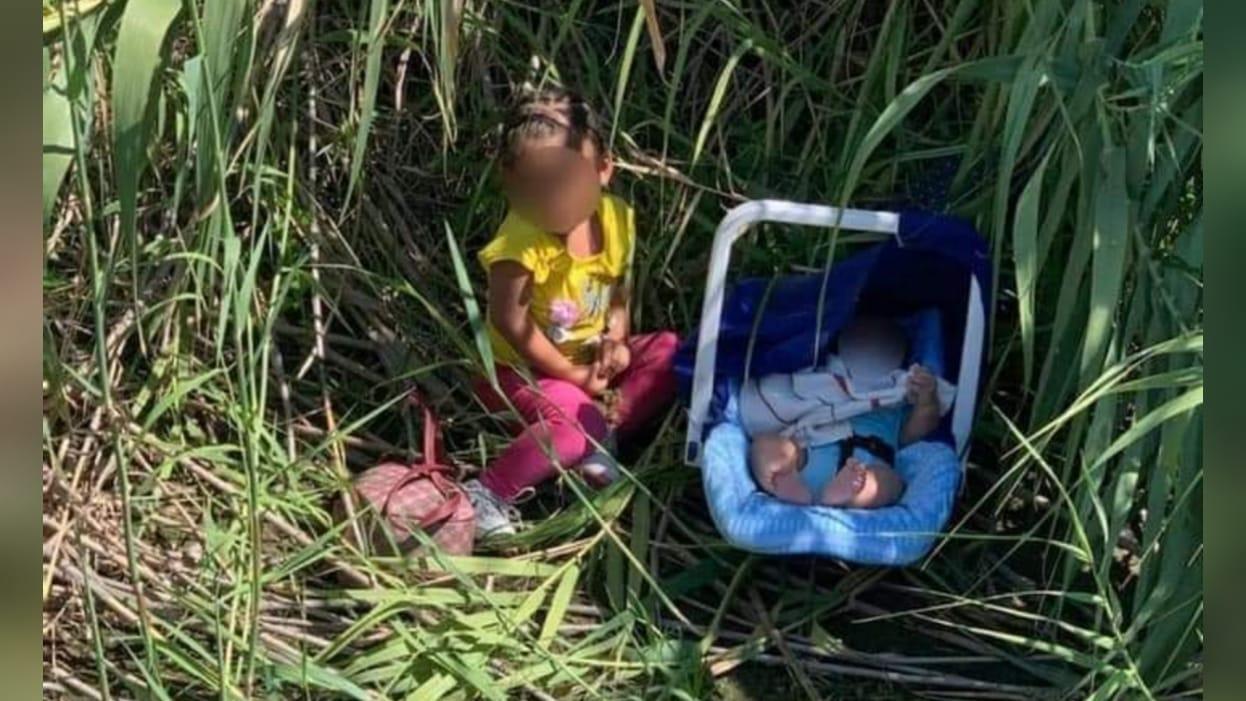Hermanitos fueron abandonados en la orilla del Río Bravo: Sus papás solo dejaron una nota