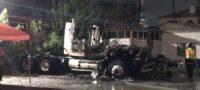 Alarma incendio de tráiler en traspatio de almacén de productos químicos en Monclova