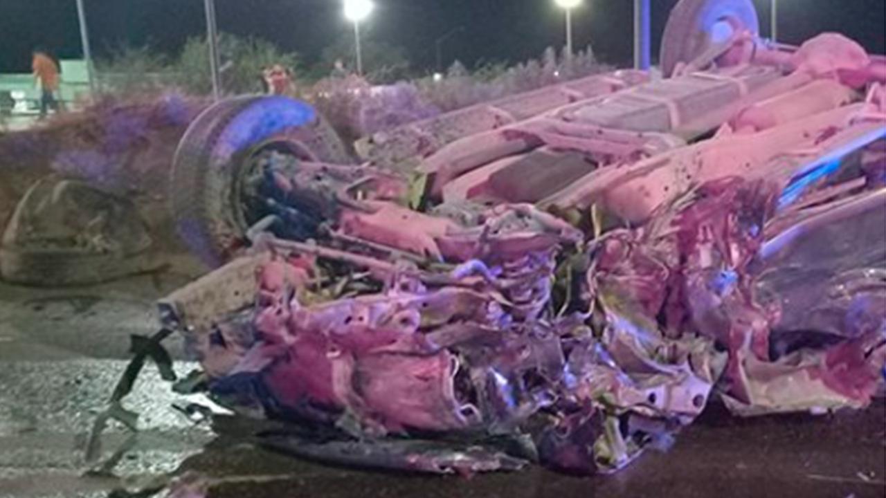 Muere mujer tras brutal volcadura en Acuña: fue aplastada por camioneta