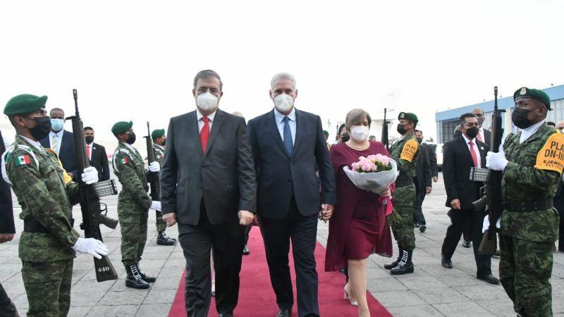 Es un honor llegar a la tierra azteca: Díaz-Canel tras arribar a México para celebraciones patrias