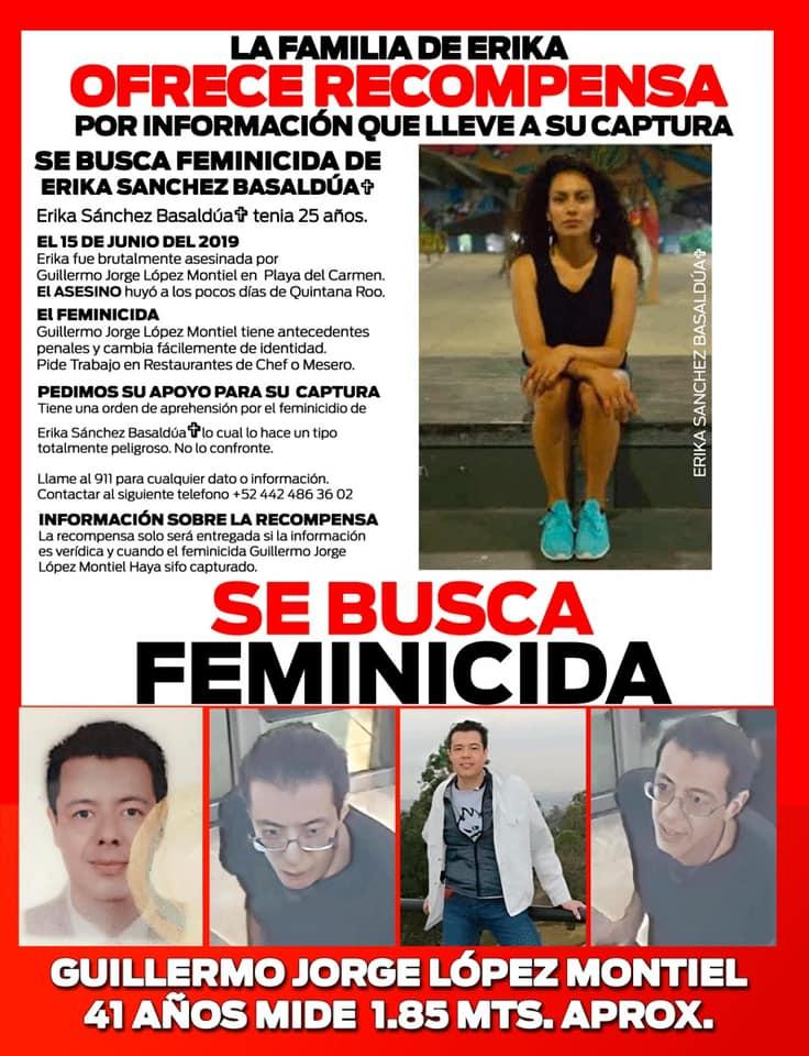 Familiares ofrecen recompensa para encontrar al feminicida de Erika: La asesinaron en 2019