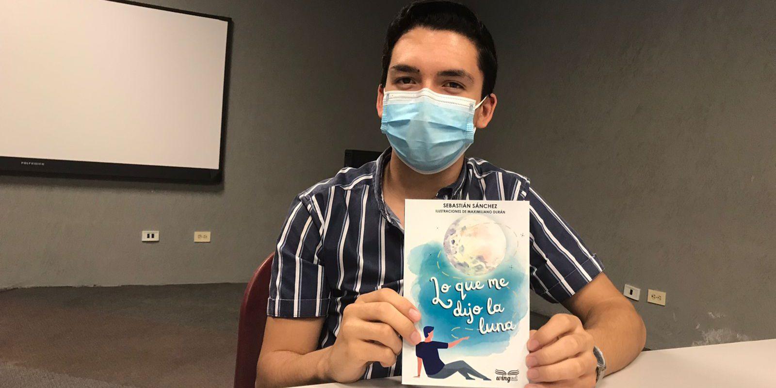 """Alumno de la U.A de C Sebastián Sánchez presentará su libro """"Lo que me dijo la Luna"""", en la Feria Internacional del Libro de Coahuila"""