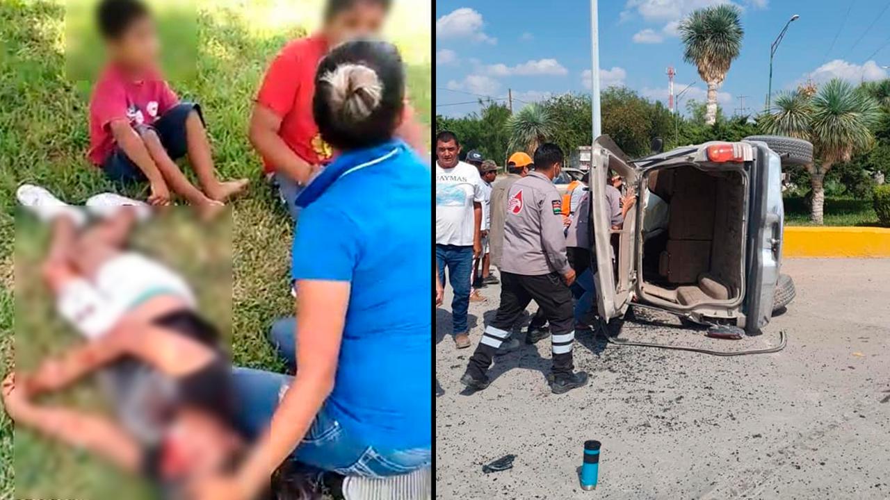Hospitalizan a dos hermanitos en Coahuila: su mamá se volcó por pelear con su papá