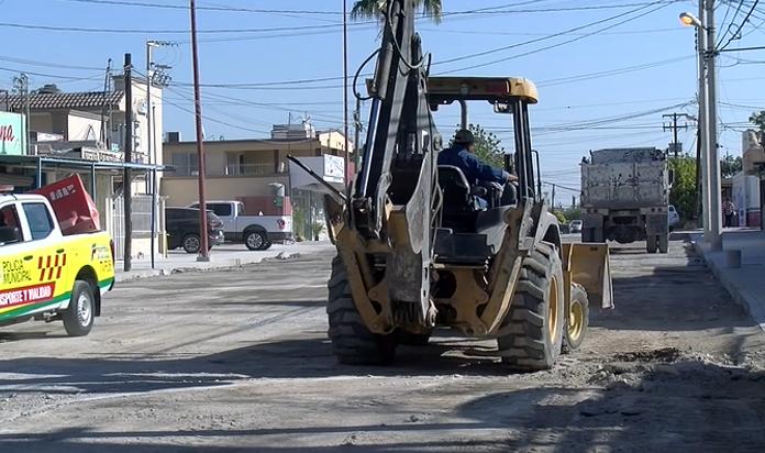 Están por culminar las obras de la calle Madero de Frontera.