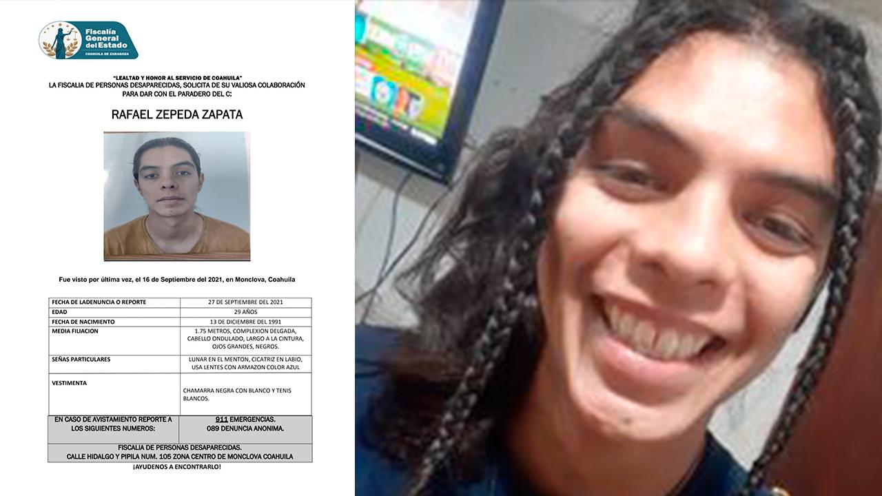 Desaparece joven en Monclova: familia pide ayuda para localizar a Rafael