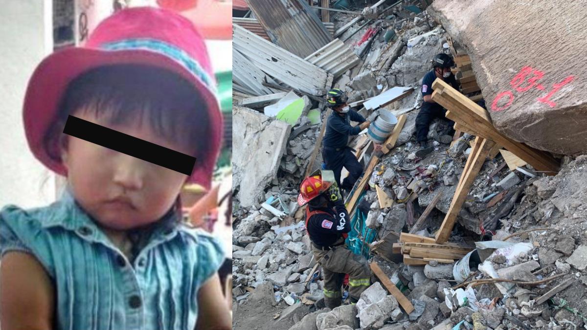 Murió aplastada por una roca: niña de 3 años tras derrumbe del Cerro de Chiquihuite