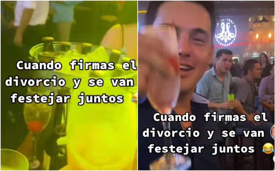 ¡Al fin me libré de este perro! ¡Cómo te odio!: ex esposos celebran juntos su divorcio; divertido video se hace viral