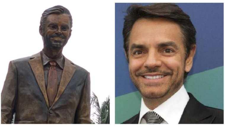 ¡Fue horrible, fue horrible! Repudian en Acapulco estatua de Eugenio Derbez; solo duró 24 horas