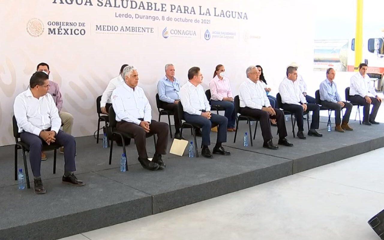 AMLO llega a Durango para supervisar Agua Saludable para La Laguna; 'iniciamos una nueva etapa', aseguró Rosas Aispuro